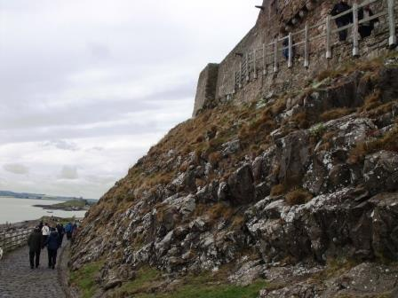 Approach to Lindisfarne Castle