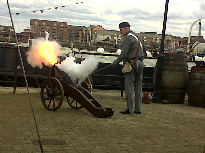 Artillery display Hartlepool Maritime Experience