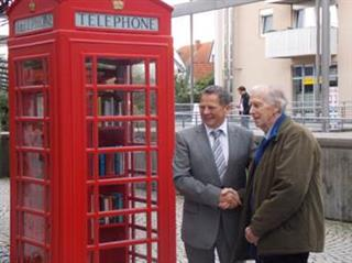 re-dedication of Phone box gifted to Gerlingen